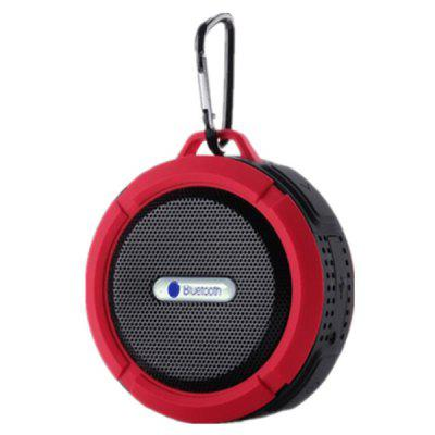 C6 Waterproof Bluetooth Speaker Outdoor Portable Card Speaker Car Subwoofer with Hook