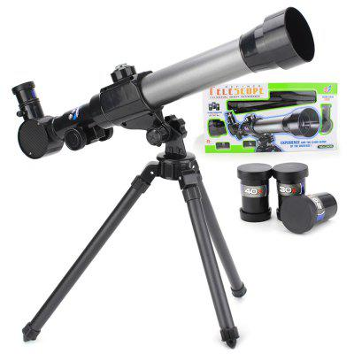 C2015 Simulation Astronomical Telescope Toy Portable Science Monocular Model Toys with Tripod for Children Kids