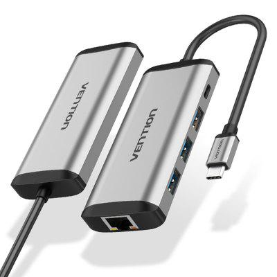 Vention TGDHB Tipo-C Para USB3.0 X 3 + Gigabit Ethernet Port + Hub PD