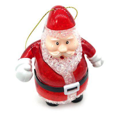 Crystal Colorful Flash Light Santa Claus Toy Lovely Gifts for Kids Home Decor