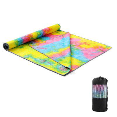 Printed Yoga Mat Thicker Widened Pad Particles Blanket Towel