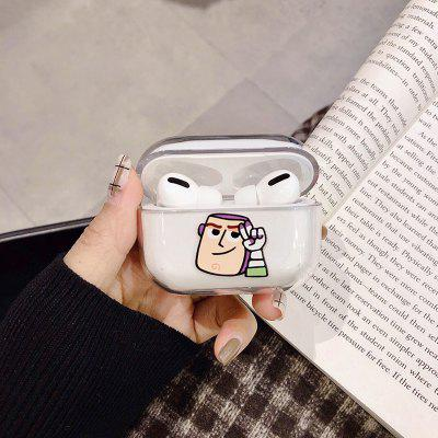 WJ-7 Bluetooth Headphones Case Cute Cartoon Silicone Protective Cover for AirPods Pro