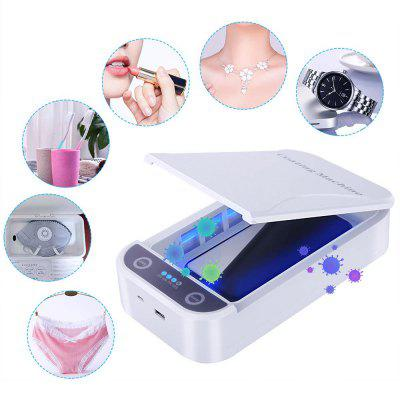 Mobile Phone UV Sterilizer Box Sterilization Ultraviolet Disinfection Machine Cleaner - White
