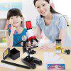 C2121 1200x Microscope Kids Toy Biological Sciences Early Learning Children Toys Home School Educational Kit - RED