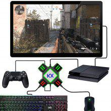 KX USB Game Controller Adapter Video Game Keyboard Mouse Converter para Switch / Xbox / PS4 / PS3