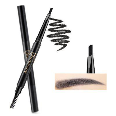 NICEFACE E17017 Double Head Eyebrow Pencil Waterproof Automatic Rotating Triangle Eyebrows Pen with Brush Makeup Tools