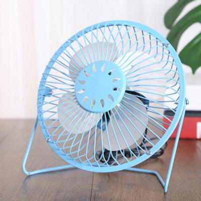 6 inch USB Mini Fan Office Desktop Computer Small Fans Mute Aluminum Alloy Leaf Creative Metal Electric Fan