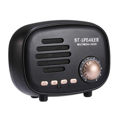 Retro Radio ve tvaru Mini Bluetooth Speaker HD Stereo Reproduktor Hands-free Volání Podpora FM rádio U Disk TF Card