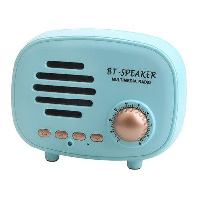 Radio Retro în formă de mini Bluetooth Difuzor HD stereo Difuzor hands-free de apel Suport FM Radio U disc TF card