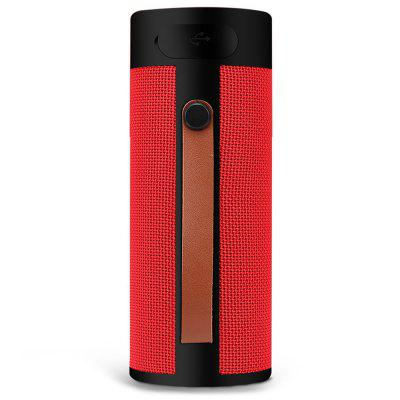 Portable Wireless Bluetooth Speaker Durable Nice Outdoor Subwoofer with Leather Hanging Sling