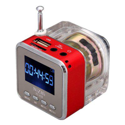 Transparent din acril Bluetooth Mini Difuzor portabil Nisa radio Monitor LCD MP3 player Suport SD / TF Card Music Player