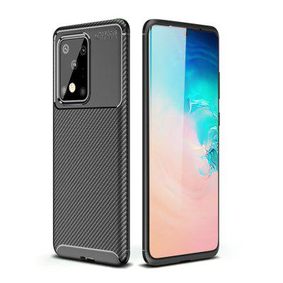 Carbon Fiber Phone Case Cover Shockproof  Protective Sleeve for Samsung Galaxy S20 Ultra / S20 Plus / S10 Lite / Note 10 Lite