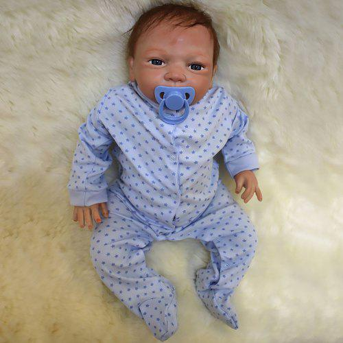 Plastic into the baby doll simulation newborn baby home care soft rubber do