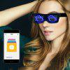 Magic Bluetooth LED Bril APP Controle Light Spectacles EMD DJ Electric Syllable Feestartikelen - ROZE