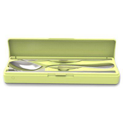 Travel Disinfection Cutlery Box Student Lunch Tableware Box Portable Stainless Steel