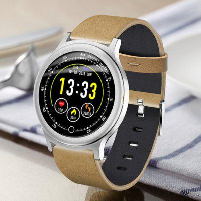 Q28 Color Leather Smart Watch Support Heart Rate Blood Pressure Sleep Monitoring Multiple Sports Modes Intelligent Reminder Waterproof Smartwatch