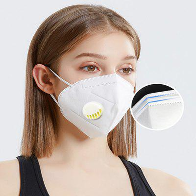 KN95-F KN95 with Breathable Valve Protection Breathable Dustproof Sanitary Mask 10PCS