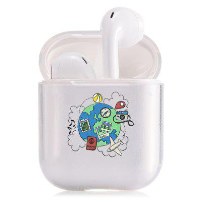 Bluetooth Headset Shell Camera Lovely Heart-shaped Letter Transparent Protective Cover For Apple AirPods1 / 2