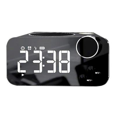 Přenosný Bluetooth reproduktor Memory Card TF Alarm Clock Radio Light