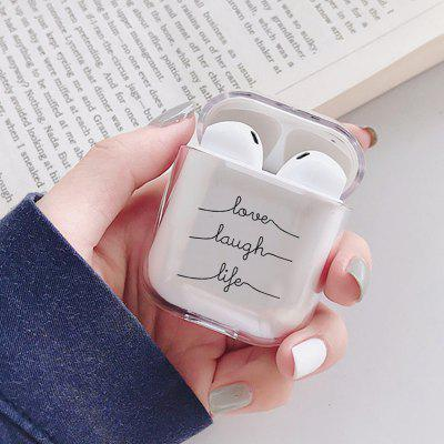 Bluetooth Earphone Case Love Transparent Cover for AirPods 1 / 2