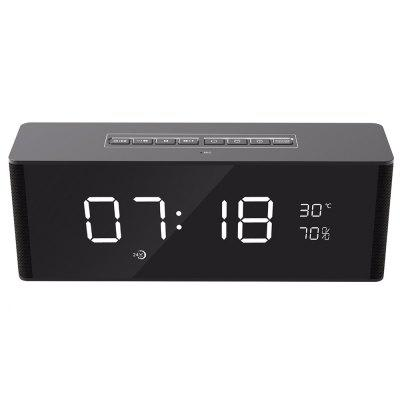Mini Bluetooth Stereo Speaker FM Alarm Clock for iPhone X