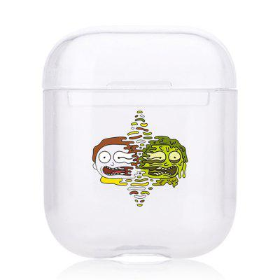 Bluetooth Headset Shell Cute Cartoon Transparent Protective Sleeve for Airpods 1 / 2