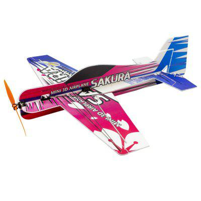Mini RC Air Samolot Samolot 3D Pianka PP F3P Lightset KIT Model Hobby Toy Sakura Remote Control Zabawki