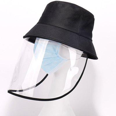 Removable Protective Bucket Hat Anti Droplets Wind Dust Prevention Face Mask Fishermen Hats 2pcs