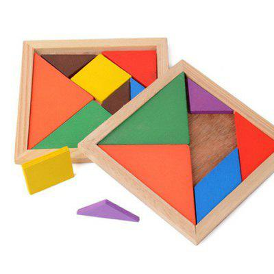 Colorful DIY Intellectual Puzzles Wooden Jigsaw Puzzle Toy Building Blocks Children's Educational Tool