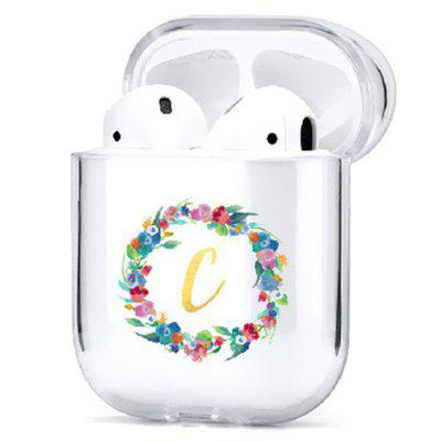 Floral Gold Letters Earbuds Case Cover Protective Sleeve for Airpods 1 / 2