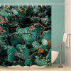 Cactus Pattern Waterproof Shower Curtain Home Decoration - MULTI