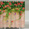 Floare fluture Brick model impermeabil perdea de dus Pagina de decorare - MULTI