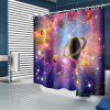 Cool Space Planet Pattern Waterproof Shower Curtain Home Decoration - MULTI