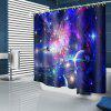 Dazzling Space Planet Pattern Waterproof Shower Curtain Home Decoration - MULTI