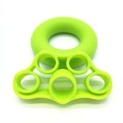 Silicone Finger Hand Grip Ring Fingers Strength Trainer Ring Ball Gripper Expander Workout Fitness Training Power Hand Grips