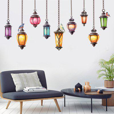 Retro Droplight Removable Wall Stickers Environmental Protection PVC Decorative Sticker Home Decals