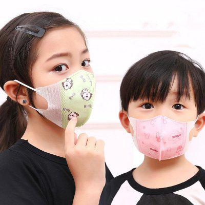 Monclique Cartoon Animals kinderen gezicht mondmasker Dustproof maskers voor Baby Nose Protection Cotton PM2.5 10st
