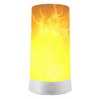 Brelong LED USB Smart Night Light Flame Effect Decorative Lamp Portable Environment Lights
