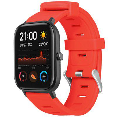 TAMISTER Flat Head Monochrome Silicone Strap for Amazfit GTS 20mm