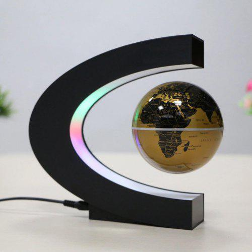 Brelong Maglev Map Globes Night Light with C-shaped Base LED Lamp 100-240V
