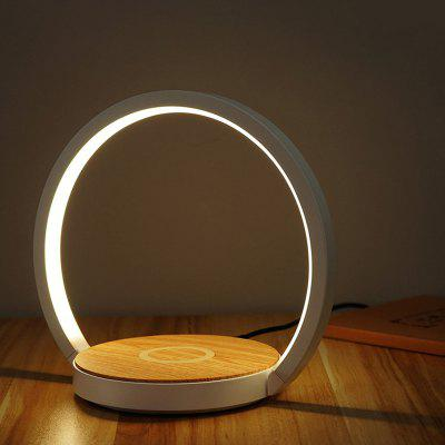 Brelong LED Folding Bedside Night Light Wireless Charging Desk Lamp Compatible with Multiple Power AC100-240V