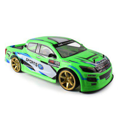 1:10 4WD Afstandsbediening 70km / h High-speed auto met licht Drift Racing Dual Battery