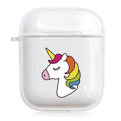 Cartoon Unicorn Pattern Bluetooth fülhallgató Shell átlátszó védő tok Airpods 1/2
