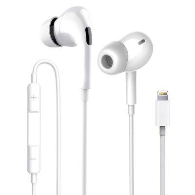 In-ear Wired Earphone with Lightning Interface Built-in Mic Headphone HiFi Music Player Handsfree Calls for iPhone
