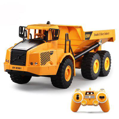DOUBLE E E581 Remote Control Toy Articulated Dump Truck Engineering Car
