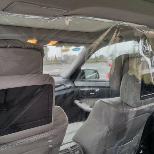 Automobile Isolation Film Taxi Anti-droplet Transparent Isolation Film Curtain PVC Film Protective Cover Self-adhesive Film