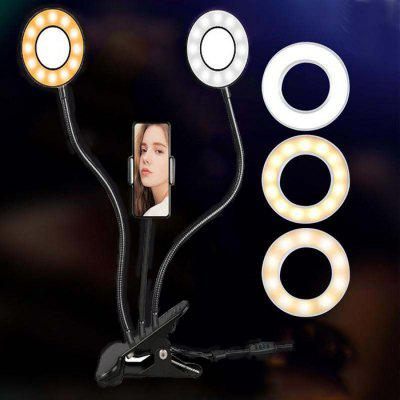 Double Head Red LED svetlá Network Broadcast Venované Mini USB port selfie Beauty Lampa Clip Anchor sekcie