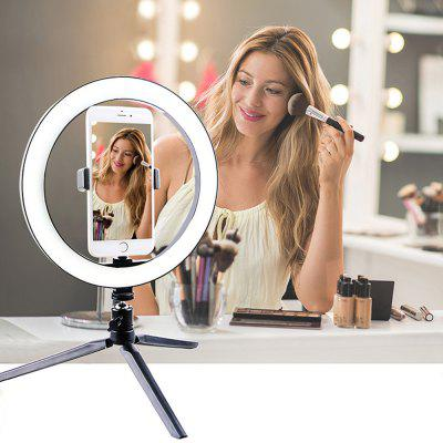 26cm Prsteň Light LED selfie Mobile Živé fotografie Beauty Make-up Light so statívom trojfarebné stmievanie