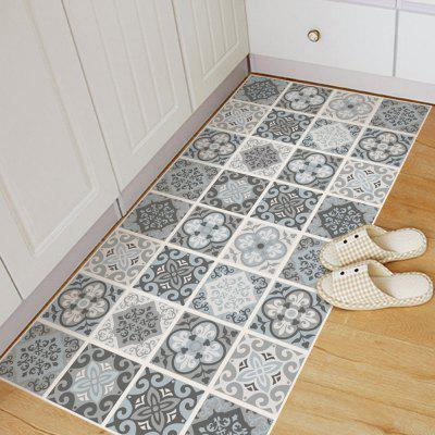 Living Room Bathroom Waterproof Floor Stickers Mediterranean Decorated Style Sticker Non-Slip Floor Decal