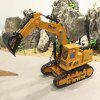 2.4G Wireless Oversized Track Excavator Remote Control Engineering Car Toy - BEE YELLOW